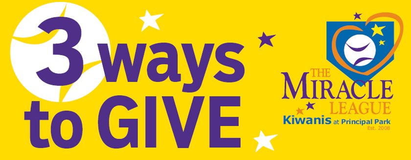 2 Ways to Donate to Kiwanis Miracle League
