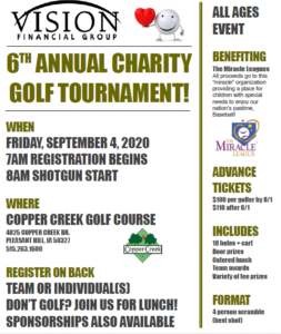 Vision Financial Group Golf Event Flyer 2020